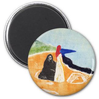 Edvard Munch Two Women on the Shore Magnet