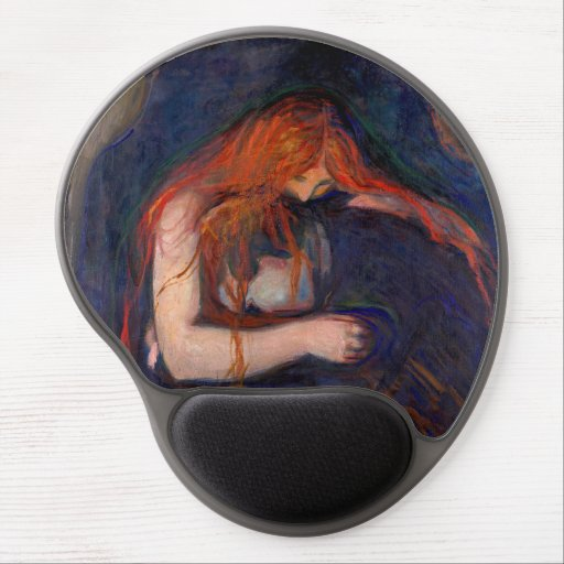 Edvard Munch - Vampire / Love and Pain Gel Mouse Pad