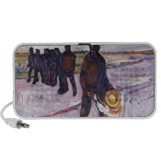 Edvard Munch - Worker And Child Painting Travel Speakers