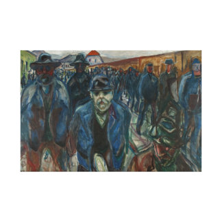 Edvard Munch - Workers on their Way Home Canvas Print