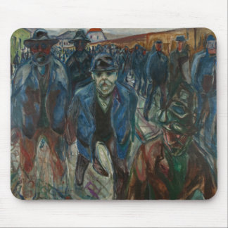 Edvard Munch - Workers on their Way Home Mouse Pad