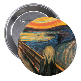 Edvard Munch's The Scream Pinback Button