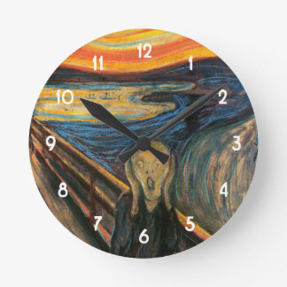 Edvard Munch's The Scream Round Clock