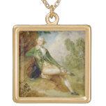 Edward Augustus, Duke of Kent, c.1787 (oil on canv Square Pendant Necklace