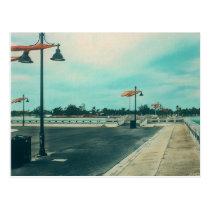 Edward B Knight Pier at Higgs Beach in Key West FL Postcard