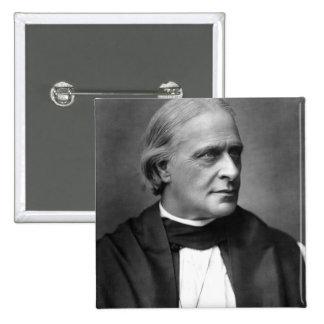 Edward Benson blanco, arzobispo de Cantorbery Pin Cuadrado
