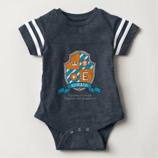 Edward boys E name & meaning boys coats of arms Baby Bodysuit
