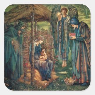 Edward Burne-Jones: Estrella de Belén Pegatina Cuadrada