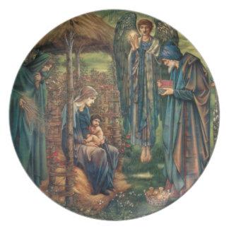 Edward Burne-Jones: Estrella de Belén Plato Para Fiesta
