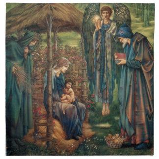 Edward Burne-Jones: Estrella de Belén Servilleta Imprimida