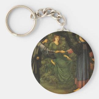 Edward Burne-Jones- Heart of the Rose Basic Round Button Keychain