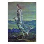 Edward Burne-Jones: Hesperus. La estrella de la ta Felicitación