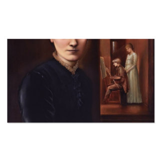 Edward Burne-Jones & his family in the background Double-Sided Standard Business Cards (Pack Of 100)