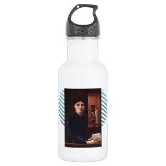 Edward Burne-Jones & his family in the background 18oz Water Bottle