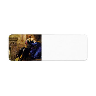 Edward Burne-Jones- Love Among the Ruins Return Address Label