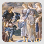 Edward Burne-Jones Perseus y las ninfas de mar Calcomanía Cuadrada Personalizada