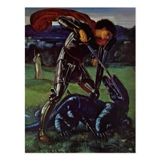 Edward Burne-Jones- St. George and the Dragon Postcard