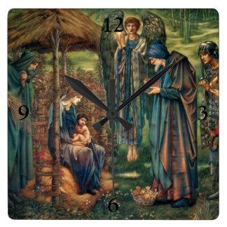 Edward Burne-Jones: Star of Bethlehem Square Wall Clock