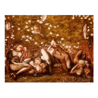 Edward Burne-Jones -Study for The Sleeping Knights Postcard
