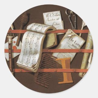 Edward Collier - Letter rack Classic Round Sticker