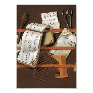 Edward Collier - Letter rack 5x7 Paper Invitation Card