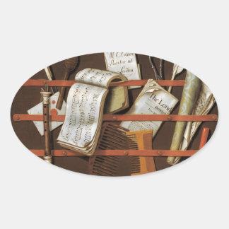 Edward Collier - Letter rack Oval Sticker