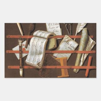Edward Collier - Letter rack Rectangular Sticker