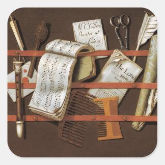 Edward Collier - Letter rack Square Sticker