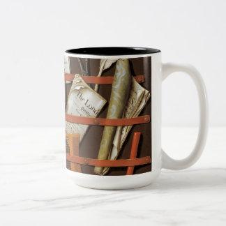 Edward Collier - Letter rack Two-Tone Coffee Mug