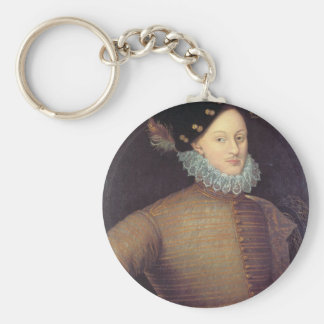 Edward de Vere, 17th Earl of Oxford Basic Round Button Keychain