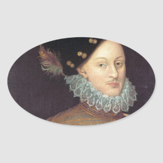 Edward de Vere, 17th Earl of Oxford Oval Sticker