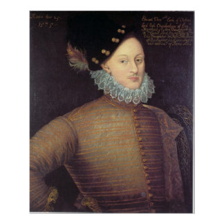 Edward de Vere, 17th Earl of Oxford Poster