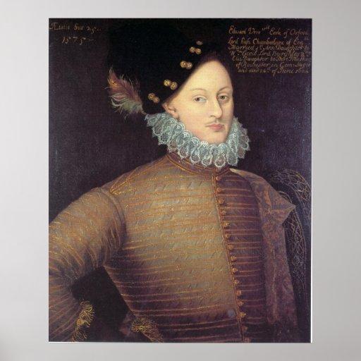 Edward de Vere, 17th Earl of Oxford Poster