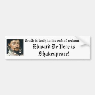 ¡Edward De Vere es Shakespeare! Pegatina Para Auto