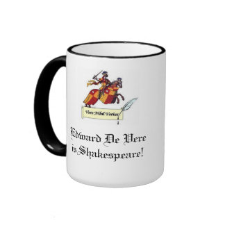 Edward de Vere es Shakespeare Taza De Dos Colores