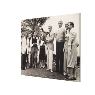 Edward, Duke of Windsor (1894-1972) and Wallis, Du Canvas Print