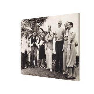 Edward, duque de Windsor (1894-1972) y de Wallis,  Lona Envuelta Para Galerias