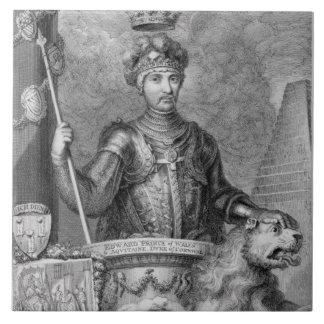 Edward el príncipe negro (1330-76) después del mon azulejo