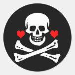 Edward England-Hearts Round Sticker