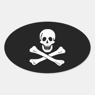 Edward England; Jolly Roger Flag Oval Sticker