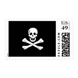 Edward England; Jolly Roger Flag Stamp