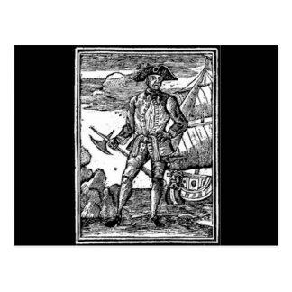 Edward England Pirate Portrait Postcard