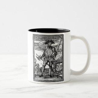 Edward England Pirate Portrait Two-Tone Coffee Mug