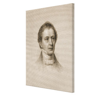 Edward Everett, engraved by John Cheney (1801-85) Canvas Print