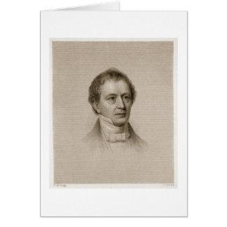 Edward Everett, grabado por Juan Cheney (1801-85) Tarjeta De Felicitación