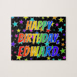 "[ Thumbnail: ""Edward"" First Name, Fun ""Happy Birthday"" Jigsaw Puzzle ]"
