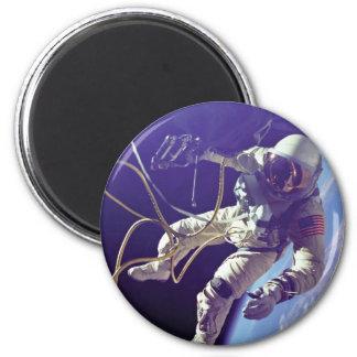 Edward H. White first American Space Walker NASA Magnet
