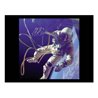 Edward H. White first American Space Walker NASA Postcard