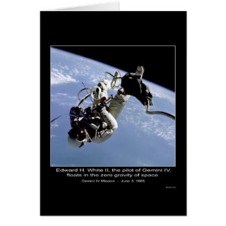 Edward H. White II floats in the zero gravity of S Card