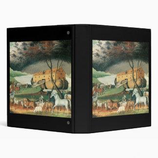 Edward Hicks Noah's Ark 3 Ring Binder
